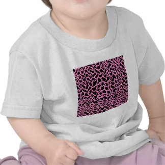 Abstract Graphic Pattern Black and Bright Pink Tshirt