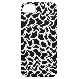 Abstract Graphic Pattern Black and White. iPhone 5 Cover