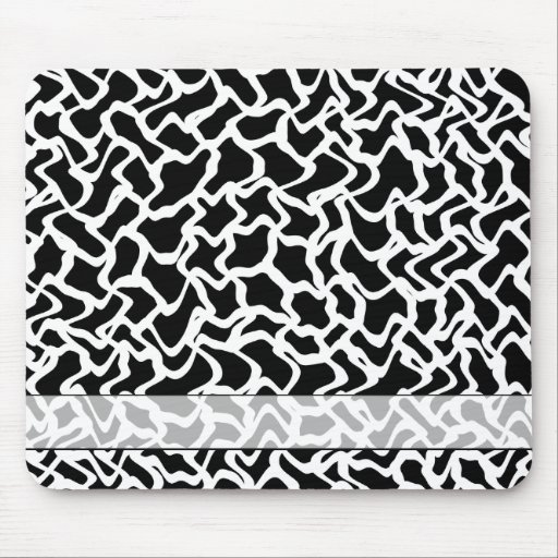 Abstract Graphic Pattern Black and White. Mouse Pad