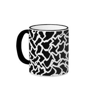Abstract Graphic Pattern Black and White Mugs