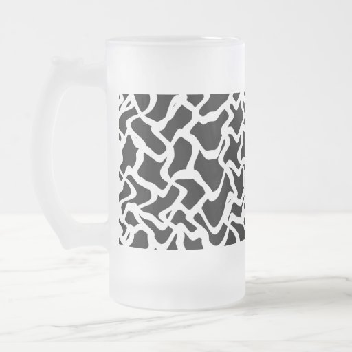 Abstract Graphic Pattern Black and White. Mug