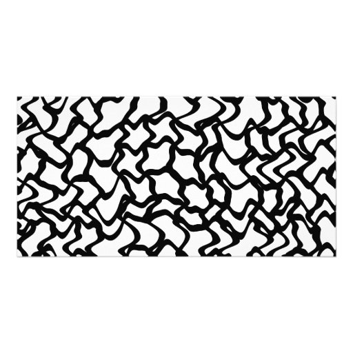 Abstract Graphic Pattern Black and White. Custom Photo Card