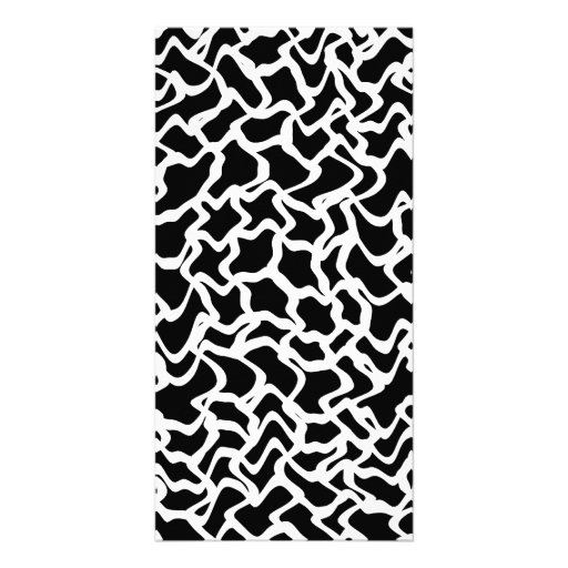 Abstract Graphic Pattern Black and White. Photo Card Template