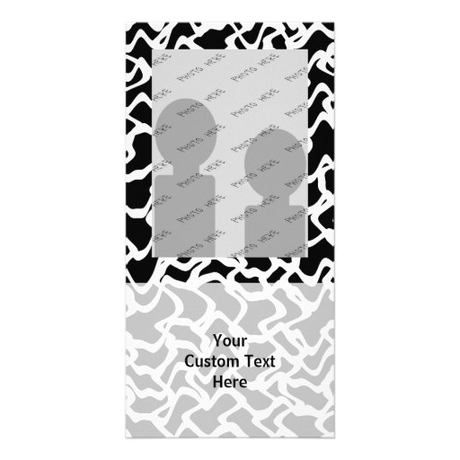 Abstract Graphic Pattern Black and White. Photo Greeting Card