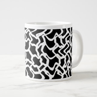Abstract Graphic Pattern Black and White Jumbo Mugs