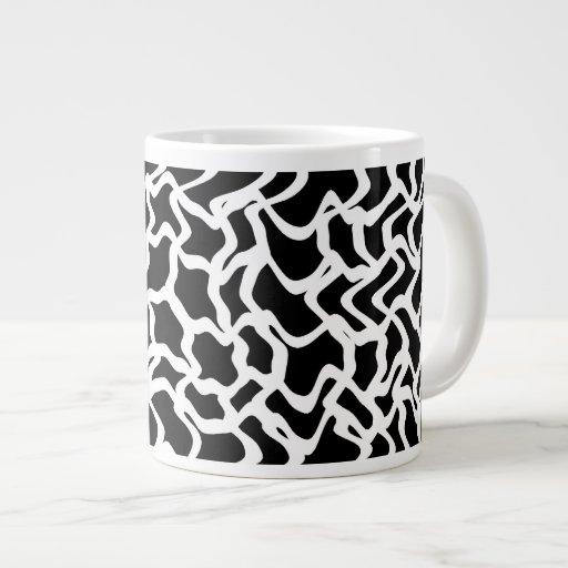 Abstract Graphic Pattern Black and White. Jumbo Mugs