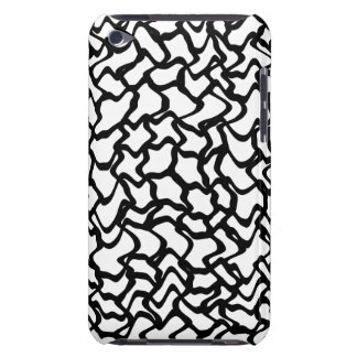 Abstract Graphic Pern Black and White. Barely There iPod Case
