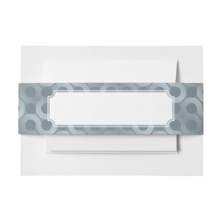 Abstract gray flow background invitation belly band