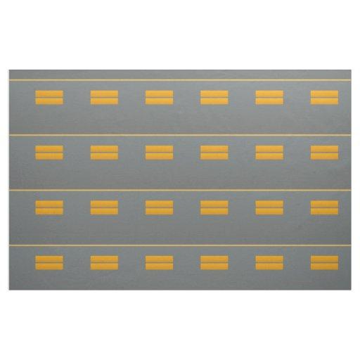 Abstract Gray Orange Yellow Geometric Pattern Fabric