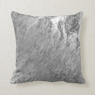 Abstract Gray Silver Monochrom VIP Marble Pastel Cushion