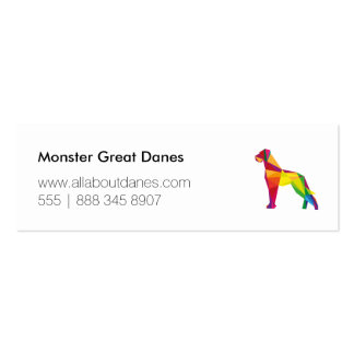 Abstract Great Dane Pack Of Skinny Business Cards