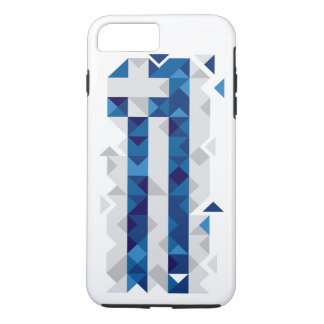 Abstract Greece Flag, Greek Artwork Phone Case