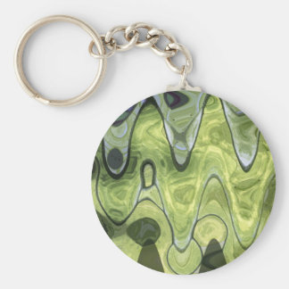 ABSTRACT GREEN 1 KEYCHAINS