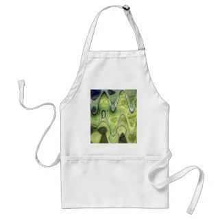 ABSTRACT GREEN 1 STANDARD APRON