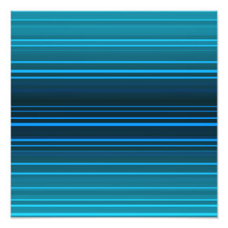 Abstract green and blue horizontal lines photographic print