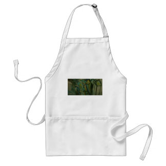 Abstract Green Adult Apron