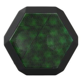 Abstract Green Background Black Bluetooth Speaker