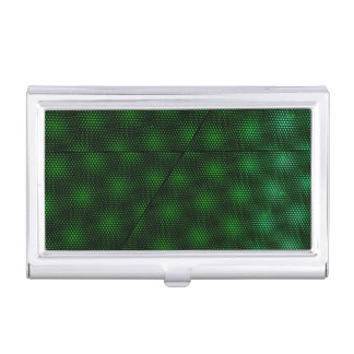 Abstract Green Background Business Card Holder