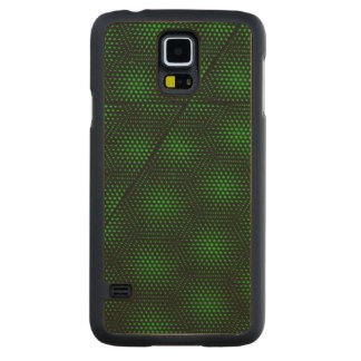 Abstract Green Background Carved Maple Galaxy S5 Case