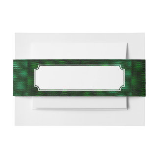 Abstract Green Background Invitation Belly Band