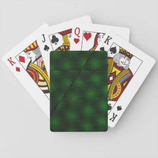 Abstract Green Background Playing Cards