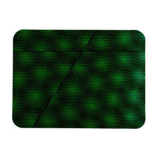 Abstract Green Background Rectangular Photo Magnet