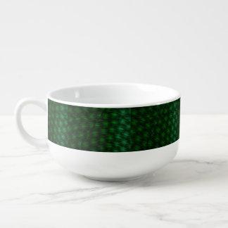 Abstract Green Background Soup Mug