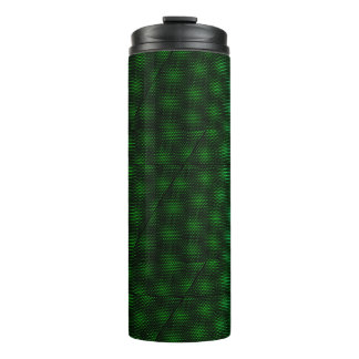 Abstract Green Background Thermal Tumbler