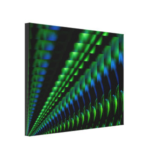 Abstract Green Blue Black Design Stretched Canvas Prints
