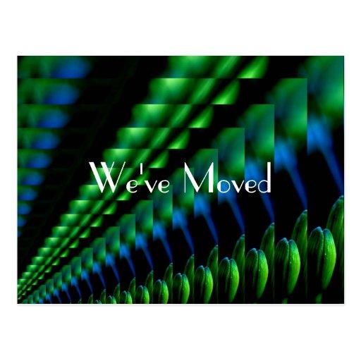 Abstract Green Blue Black Design New Address Post Card