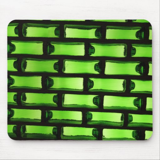 Abstract Green Bottle Pattern Mousepad