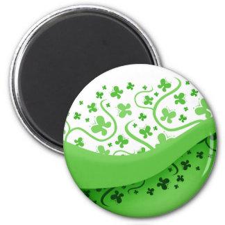 Abstract Green Butterflies Fridge Magnets