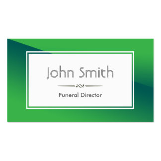 Abstract Green Funeral Business Card