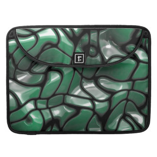 Abstract Green Gems Sleeve For MacBooks