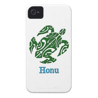 Abstract Green Hawaiian Sea Turtle on White iPhone 4 Cover