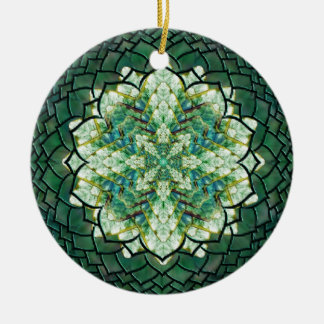 Abstract Green Ivy Mandala Ornament