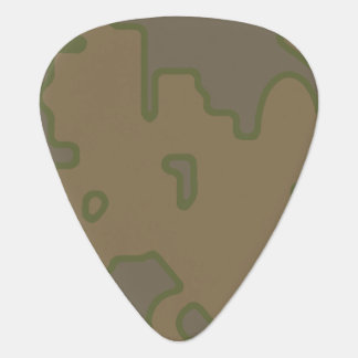 Abstract Green Khaki Guitar Pick