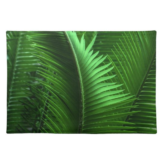 Abstract Green Leaves Placemats