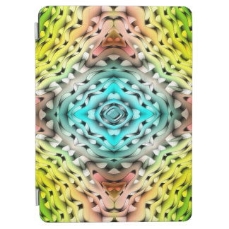 Abstract Green Light Blue And Pink Background iPad Air Cover