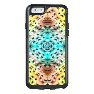 Abstract Green Light Blue And Pink Background OtterBox iPhone 6/6s Case