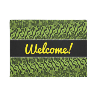 Abstract Green Liquid-Like Splotch Pattern Doormat