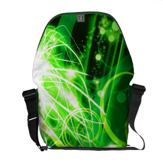 Abstract Green Messenger Bags