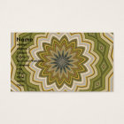Abstract Green Mosaic Business Card
