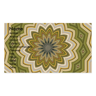 Abstract Green Mosaic Pack Of Standard Business Cards