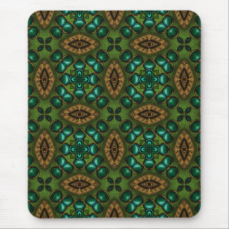 abstract_green mouse mat