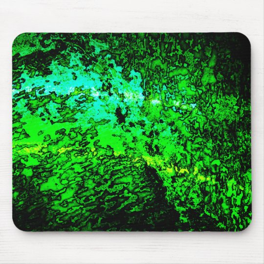 Abstract Green Mouse Pad