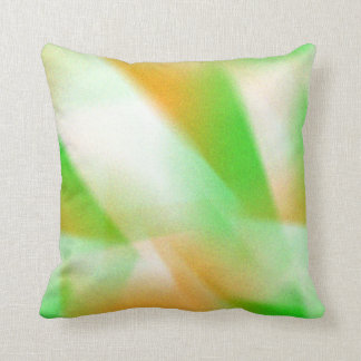 Abstract Green Orange White Blended Irish Colors Cushion