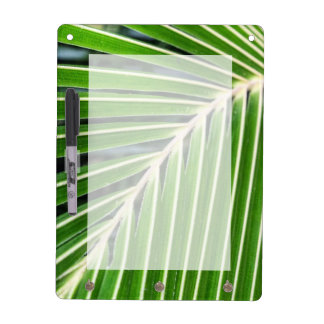 Abstract Green Palm Leaf Dry Erase Board