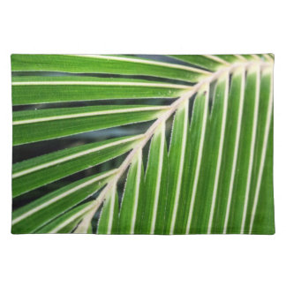 Abstract Green Palm Leaf Placemat