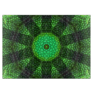 Abstract green pattern cutting board